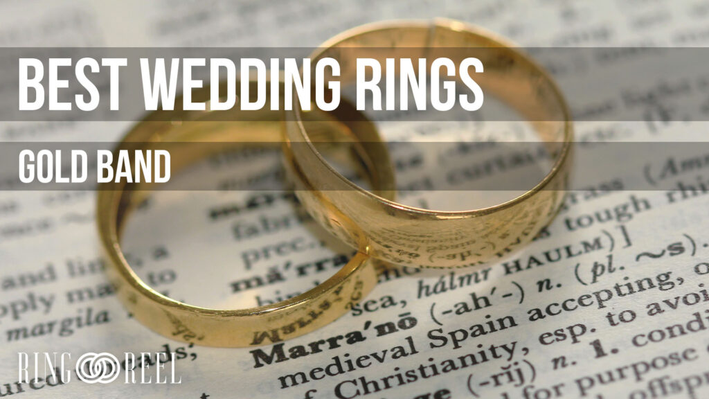 best gold band wedding rings