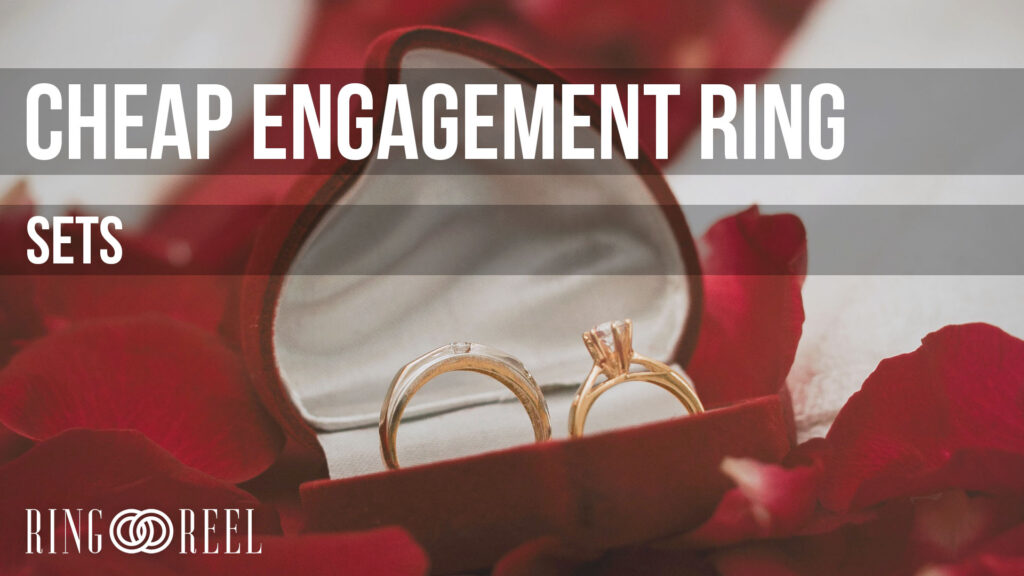 cheap engagement ring sets