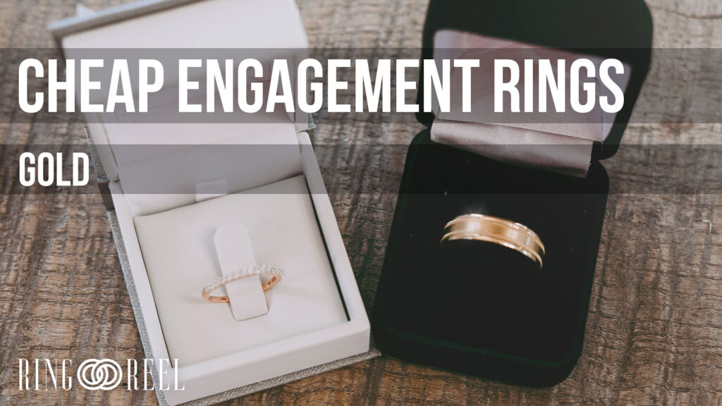 cheap gold engagement rings
