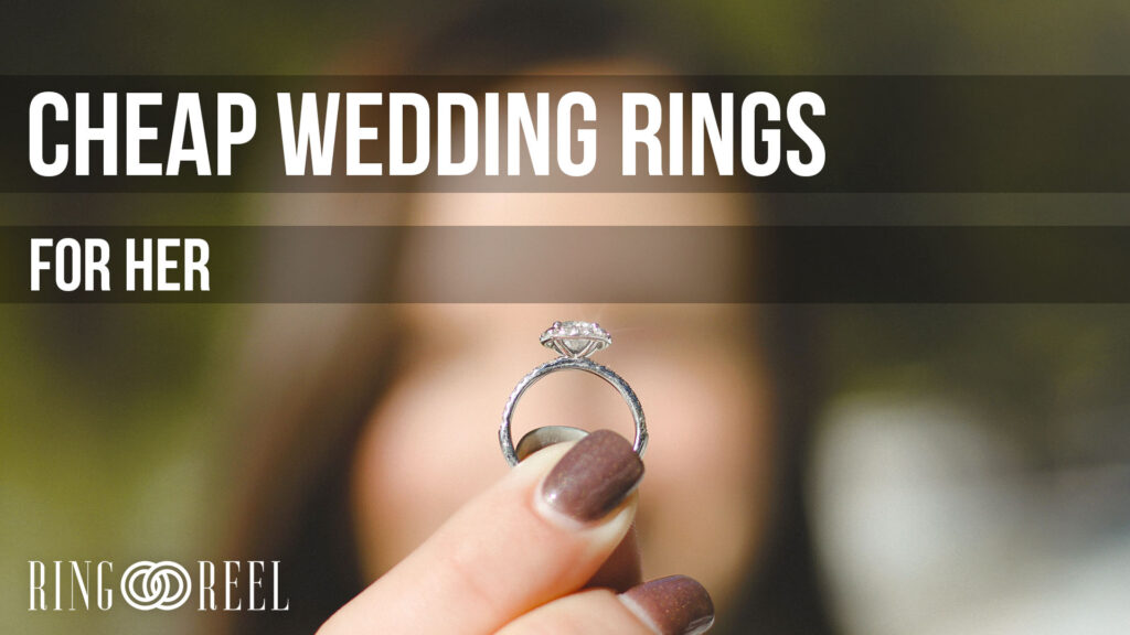 cheap wedding rings for her